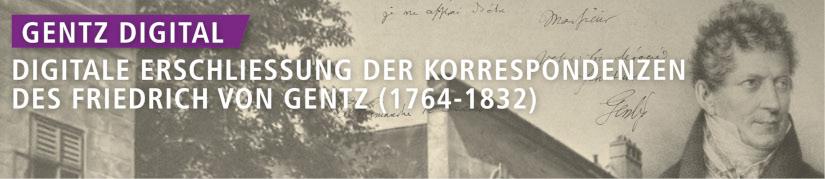 Die digital erschlossenen und durchsuchbaren Briefe von Gentz, Bildrechte: Uni Köln