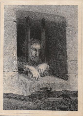 """Aimé de Lemud ( 1816-1887) était un artiste thionvillois qui """"monta à Paris"""" en 1837. Graveur de la veine romantique, peintre, dessinateur, graveur et ferronier, il publia en 1844 """"Le Prisonnier"""" qui lui valut un prix au Salon de Metz."""