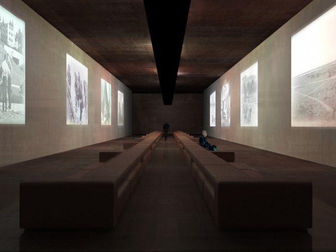 Vue du projet de l'exposition permanente, source Agence Rudy Ricciotti