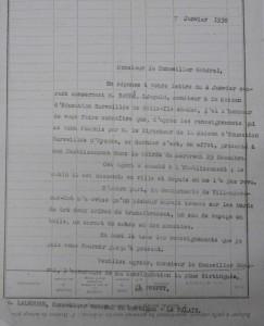 Correspondance à propos de la mort d'un moniteur de Belle-Île-en-Mer (archives du Lot-et-Garonne, 1 Y 104)