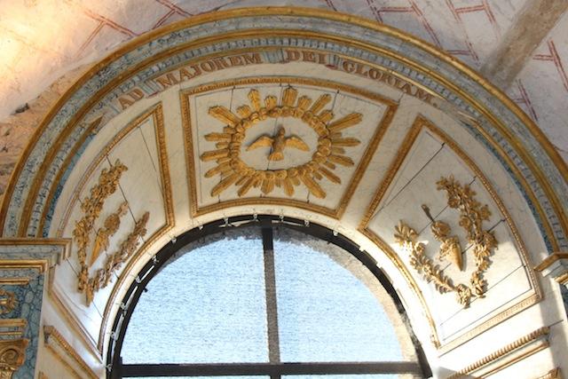 Un aspect de la décoration de la chapelle