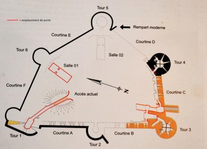 Fig. 3. Château de Selles. Plan. Niveau 2 (MOTTE, V., 2010, p. 37, modifié par LANI, M.).