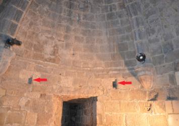 Fig. 22. Château de Selles. Niveau 2. Tour 4. Traces de poutres, type 2 (LANI, M., 2014).