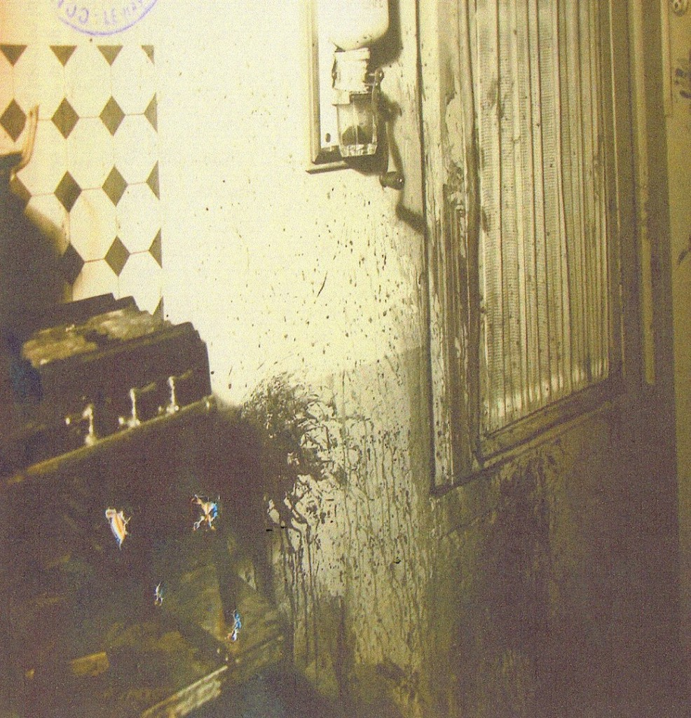 Photographie de la scène du crime. La cuisine. Archives départementales de Seine-Maritime