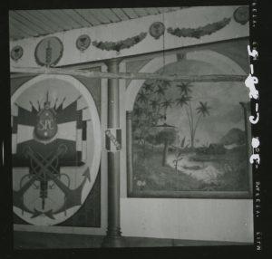 Décors de la salle anthropométrique réalisés par Emile Desmaret, années 1950, Ingeborg de Beausacq/Archives historiques du CNAM.