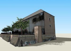 Figure 14 Proposition de traitement de la façade pour favoriser l'intégration urbaine du bâtiment par l'agence d'architecture Pronaos, 2011 © Pronaos