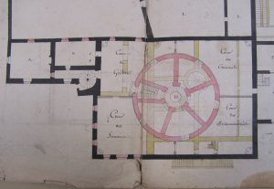 Figure 5 Projet de prison, 1er ventôse An 8 (détail), AdA, 4N126 © Patrimoine Recherche Avenir.