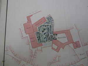 Figure 6 Plan de Bourg-en-Bresse, 1813-1814, feuille n°4 (détail), AdA © Patrimoine Recherche Avenir.