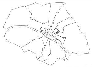 Image 1 : Carte de Paris au XVIIIe siècle et localisation des prisons.