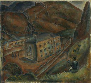 Fig. 7 René Auberjonois (1872-1957): Le Bagne à Sion, 1918, huile sur toile, 46 x 51 cm, Musée d'art du Valais, Sion. BA 2876. © Musées cantonaux du Valais, Sion. Michel Martinez