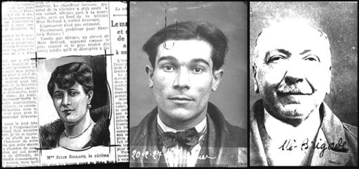 Julie Rolland, la victime et les vitrioleurs, Lucien Jourdan et Ernest Aubès. Fonds Petit Parisien, Criminocorpus/ENAP-CHRCP.