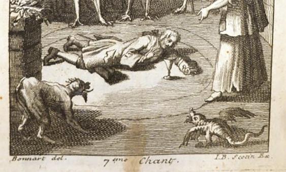Détail du 7e chant du Vice puni, ou Cartouche de Nicolas Racot de Grandval, Coll. Ph. Zoummeroff/Criminocorpus
