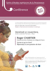Conference Roger Chartier