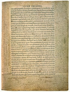 Bibliothèque de Bordeaux, S 1238 Rés.coffre, « De Democritus & Heraclitus » f. 36. Numérisation P. Desan, U. de Chicago.
