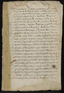 Contrat de mariage de Montaigne, f° 1, BVH