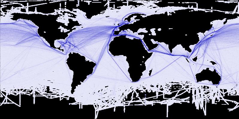Cartographie des routes maritimes