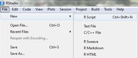 Créer un script avec RStudio