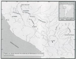 Región de las andanzas de Pedro Bohórquez en el oriente peruano-boliviano