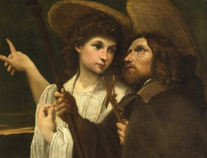 San Roque y el Ángel. Annibale Carracci, ca. 1585-1589. Museo Fitzwilliam, Cambridge, Inglaterra