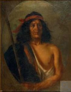 El jefe Quilapán. Oleo sobre tela de Martín Boneo