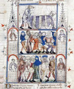 Charivari medieval, siglo XIV en la obra Roman de Fauvel