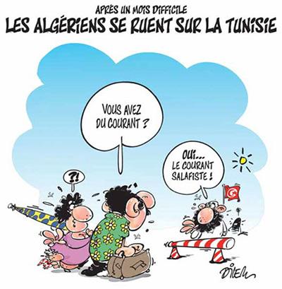 Caricature de Dilem pour le quotidien Liberté à l'occasion de l'Aïd, reprise par Business News (23/12/2012)