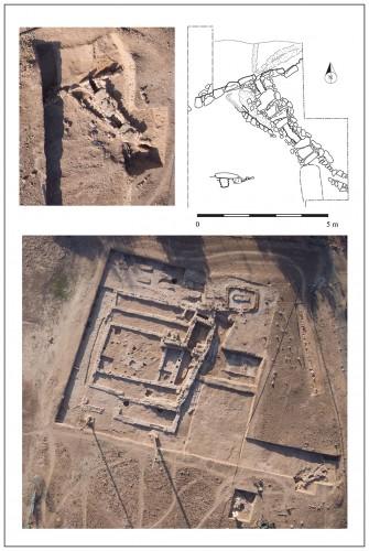 Fig. 4 : Canal  et bordure de pierres dressée (Janvier 2011. Clichés : T. Sagory ; Plan : V. Bernard).