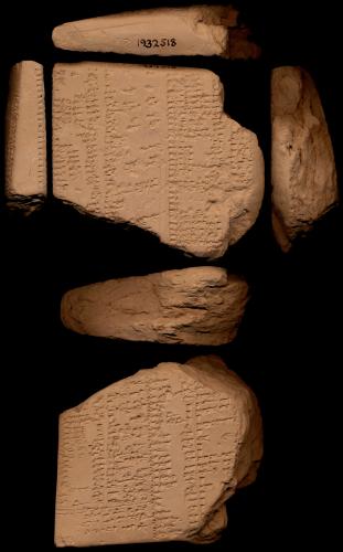 Liste lexicale servant à l'apprentissage du sumérien par les scribes d'époque akkadienne (Ash 1932-0518 ; néo-babylonien 626-539 av. J.-C.). © cdli.