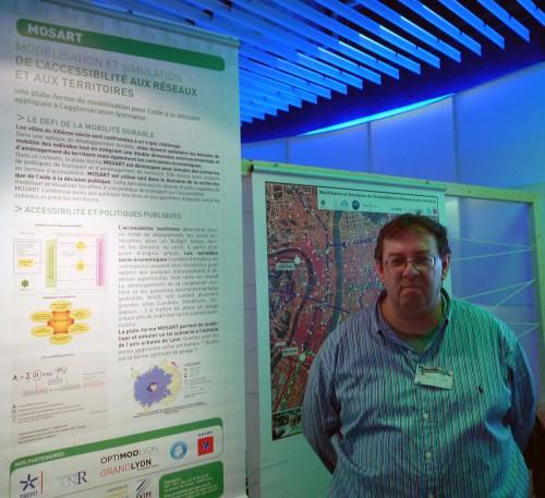 Nicolas Ovtracht, UMR 5593-LET (Université Lyon 2) : stand du projet IMU Mosart