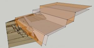 Fig 7 proposition de restitution 3D de la terrasse Azara