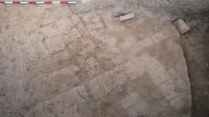 Chantier A, un mur médio-assyrien en place.