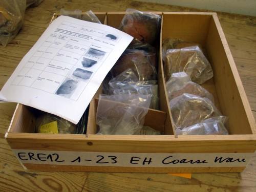 Fig. 12 : échantillons prêts à être analysés.
