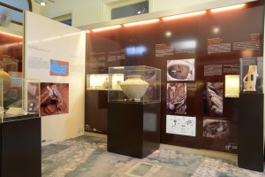Fig.3: A glance at the display of 43 archaeological artefacts © Sidon British museum excavation.