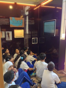 Fig. 6: The Young generation discovering the History of Lebanon: a documentary film on display © Sidon British museum excavation.