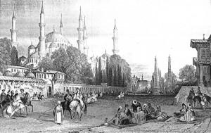 Fig. 4 : gravure du Meidan d'Istanbul par Th. Allom. Collection Joseph Reinach, Lyon.