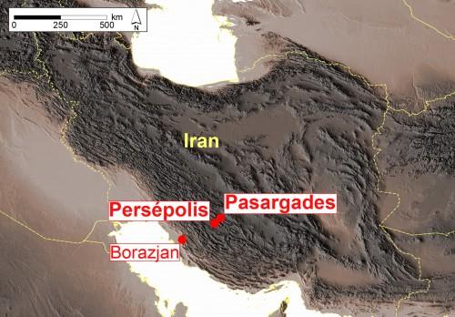Fig. 1 : localisation des principaux sites évoqués.