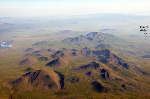 Fig. 4 : Le haut plateau volcanique de Djavakheti (vue vers le sud).