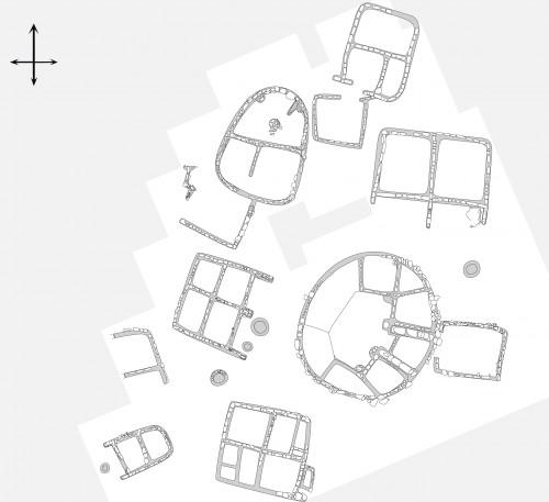 Fig. 4b : relevé de terrain (M. Brenet) simplifié (E. Régagnon)