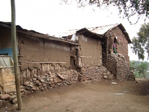 Fig. 3 – Ethiopie : Maison construite en torchis. Les murs sont composés d'une ossature en bois couverte d'un épais enduit de terre (Photo Ishanlosen Odiaua)