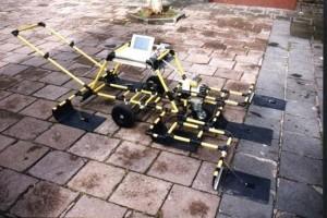 Figure 2 : Dispositif électrostatique permettant d'atteindre 1,50 m de profondeur environ. © UMR 7619 Métis