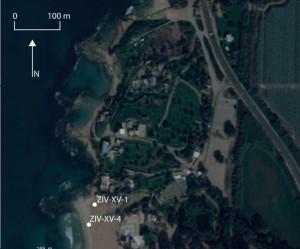Fig. 8 : localisation des carottages.