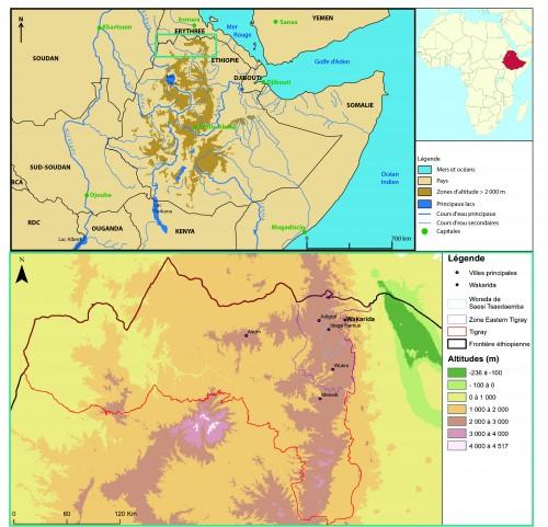 Fig. 1 : Carte de localisation du site de Wakarida. © N. Blond, 2015