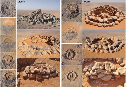 Fig.6 : Fouille des cairns JK.010 et JK.011 dans le secteur du Jabal Kabd (MASEJ, Zone 1 : Secteur 3).