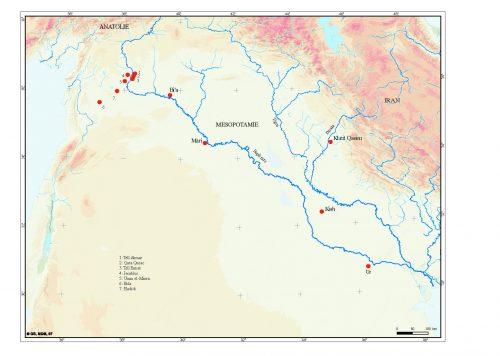 Fig. 1 : Carte des sites dans lesquels ont été mises au jour des tombes de prestige (Lazzarini C., Sanz S. 2011)
