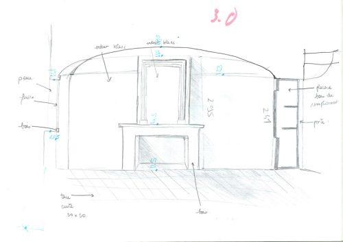 Fig. 6 : Croquis du relevé d'une pièce