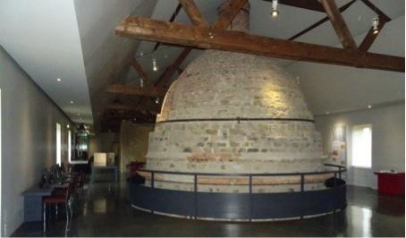 Fig. 5 : La partie supérieure du four, au 1er étage du musée