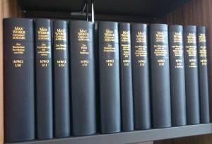 Die Max Weber Gesamtausgabe, Abteilung I - ab Band 10