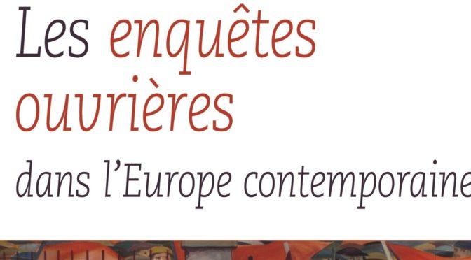 En quête de légitimité : les « travaux originaux » des inspecteurs du travail (1893-1914), Valérie Burgos Blondelle et Vincent Viet