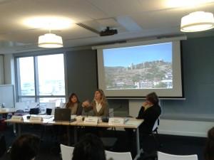 Rencontre du  16 novembre 2011 « Autour de La mer Noire : exil à la géorgienne ».  Kéthévane Davrichewy, Sylvie Gangloff, Taline Ter Minassian.