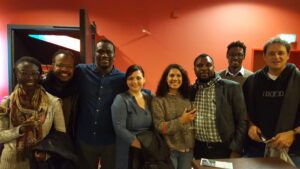 Some BIGSAS Junior Fellows with Friends at Cinema Africas 2019